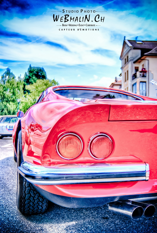 Post - Coupe des Alpes Evian - Ferrari - Dino - 246 - 1972