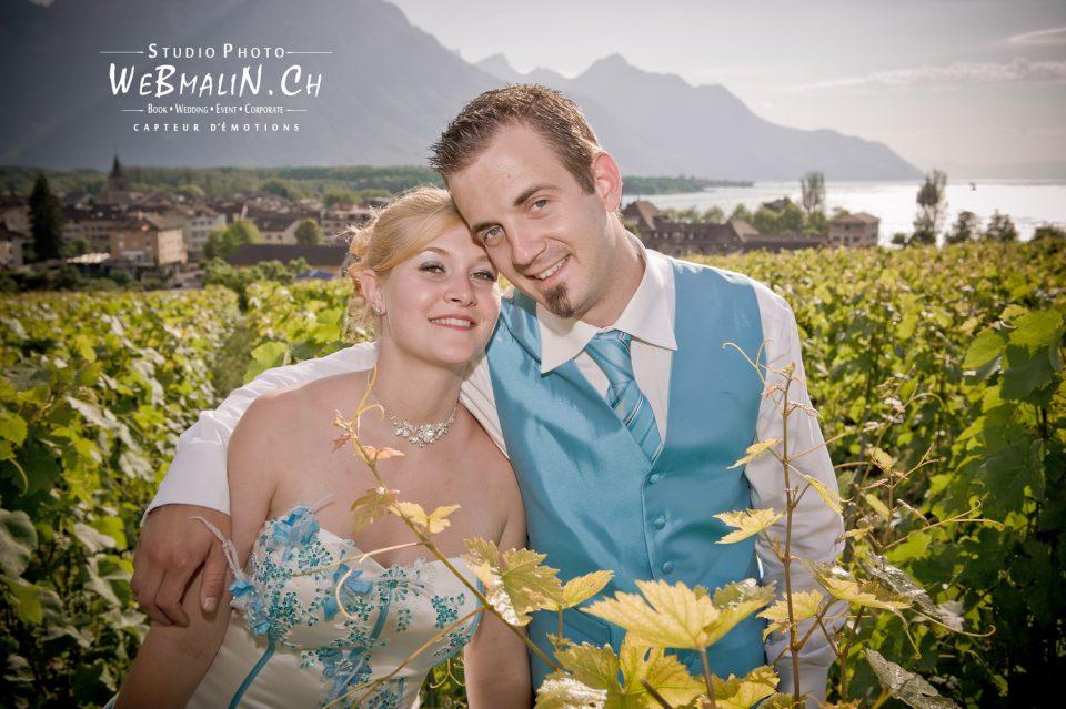 Portfolio - Mariage - Couple Mariés - Vigne Suisse