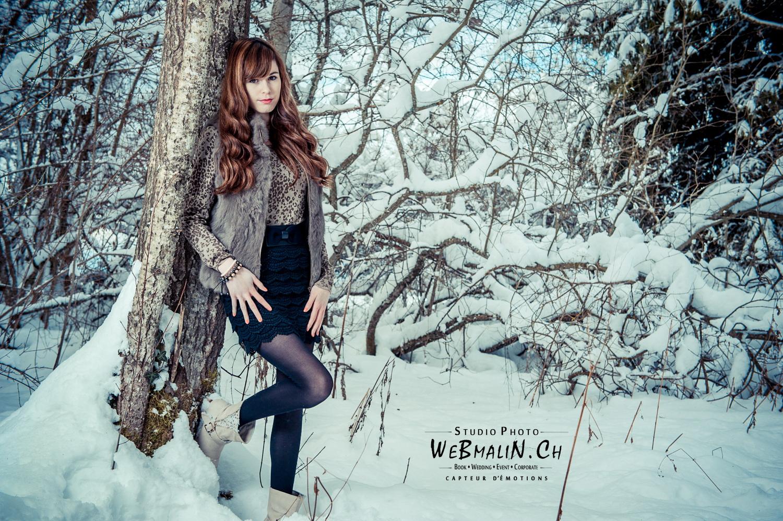 Seance Photo - Lifestyle - Dans la Neige - Saint Paul En Chablais - Modele Cindy Thorens - aD3S_0398-1