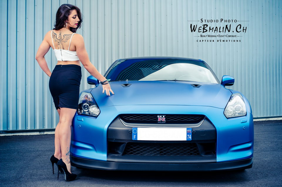 Post - Bluezilla Nissan GTR - Model Noemie - Thonon - Annecy