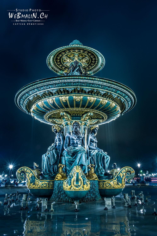 Portfolio - Paysage - Fontaine des Fleuves - Concorde - Paris