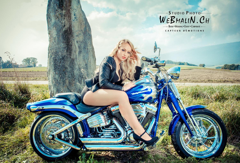 Portfolio - Harley Davidson Softail Springer CVO - Modele Elise