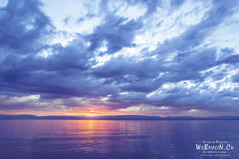 Portfolio - Paysage - Lac Leman - Coucher Soleil - Evian les Bains
