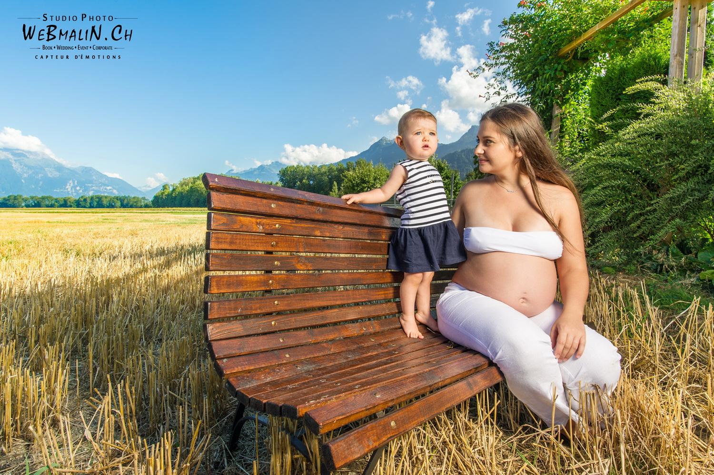 Portfolio - Seance Grossesse Marjorie & Valentina - Villeneuve Suisse