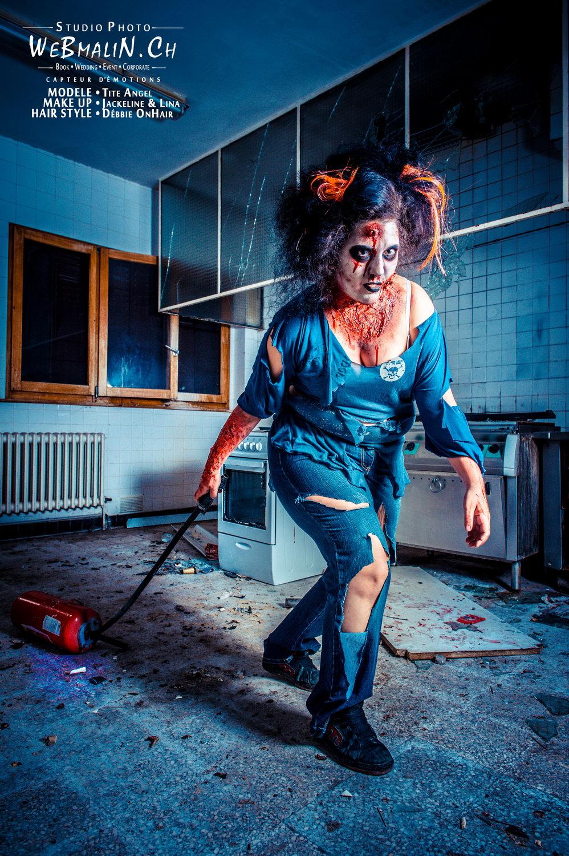 Portfolio - Zombie Walking Dead - Model Tite Angel