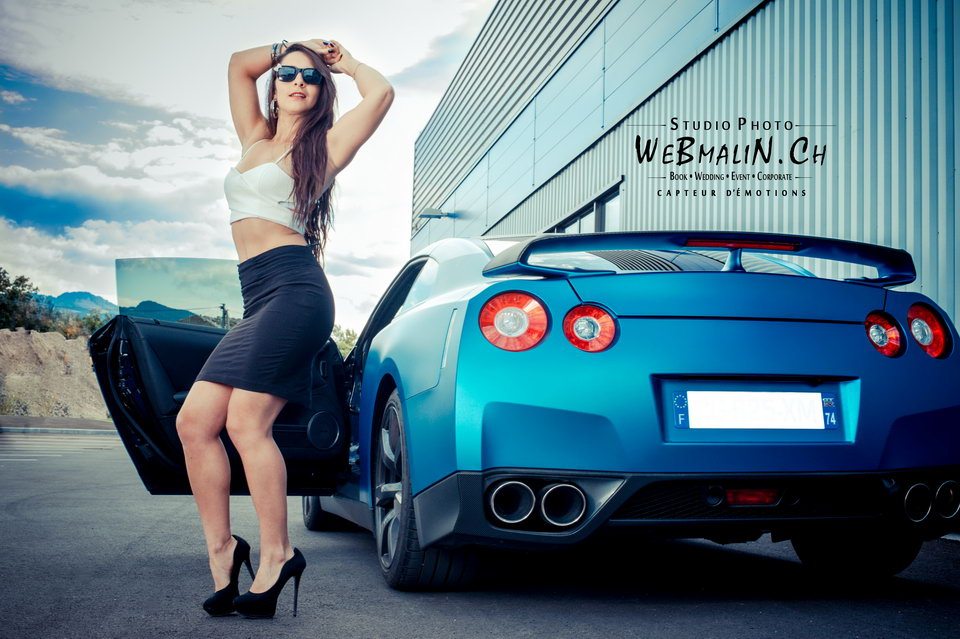 Post - Bluezilla Nissan GTR - Model Noemie - Thonon - Annecy